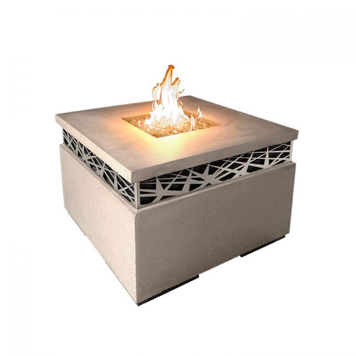 American Fyre Designs Nest Square Chat Height Fire Table
