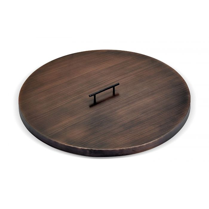 American Fireglass Fire Pit Oil Rubbed Bronze Burner Cover, Round, 28 Inch
