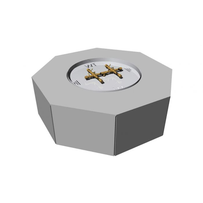 Warming Trends Ready-to-Finish Octagon Fire Pit Kit, 54-Inch