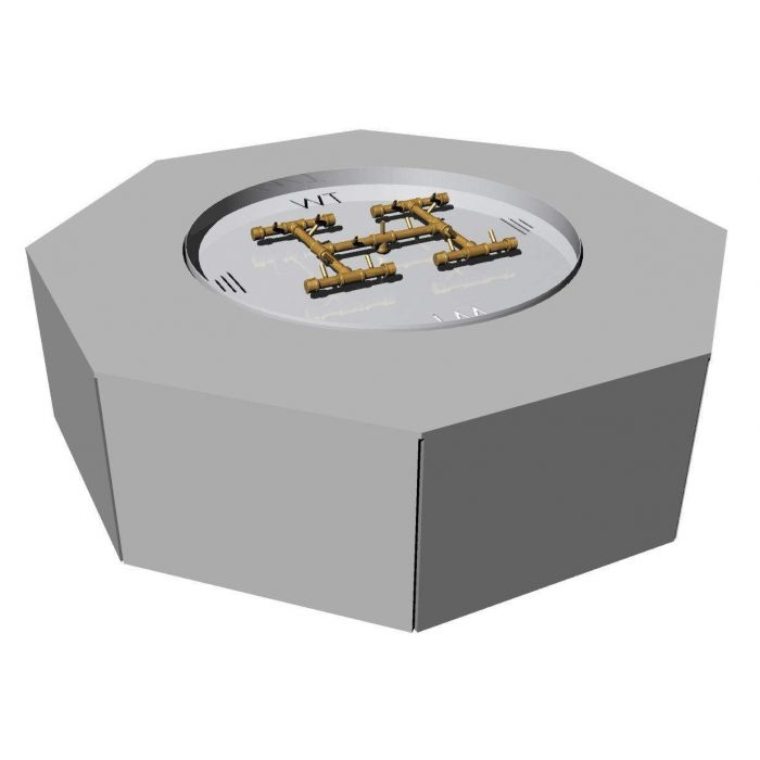 Warming Trends Ready-to-Finish Octagon Fire Pit Kit, 60-Inch