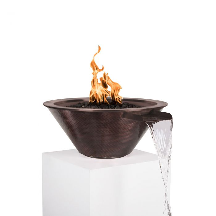 TOP Fires by The Outdoor Plus OPT-103-xxNWCB Cazo Copper Fire and Water Bowl