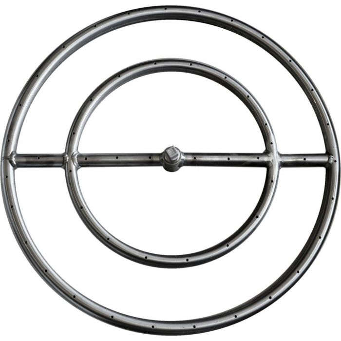 The Outdoor Plus OPT-1xx Round Stainless Steel Gas Fire Pit Burner