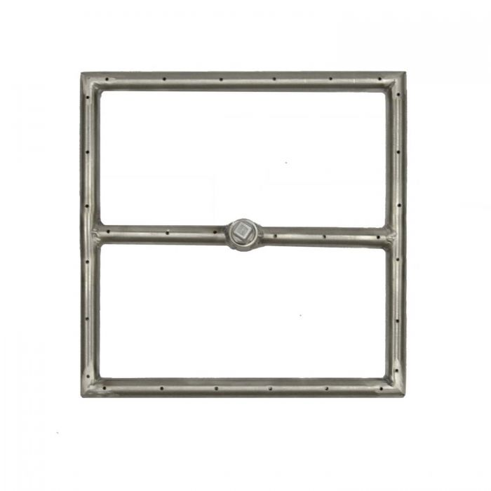 The Outdoor Plus OPT-300x-SQ Stainless Steel Square Gas Fire Pit Burner