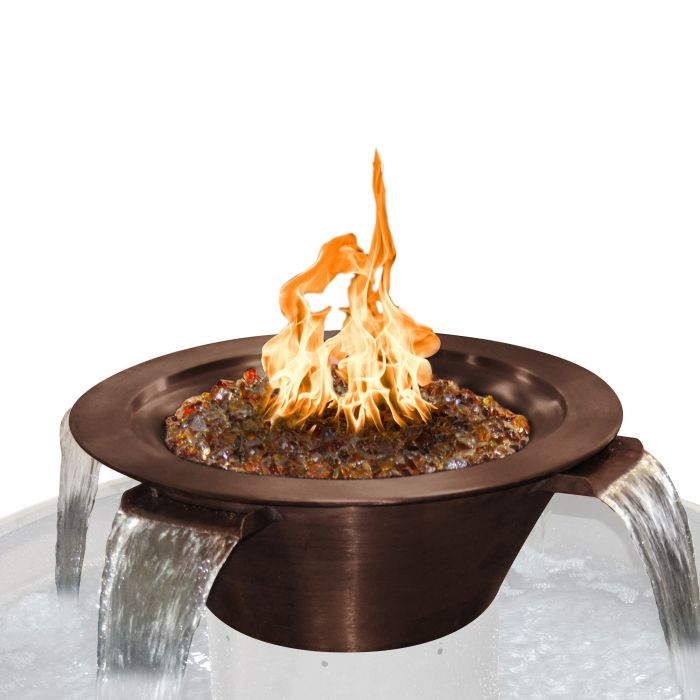 TOP Fires by The Outdoor Plus OPT-4Wxx Cazo 4-Way Copper Fire and Water Bowl