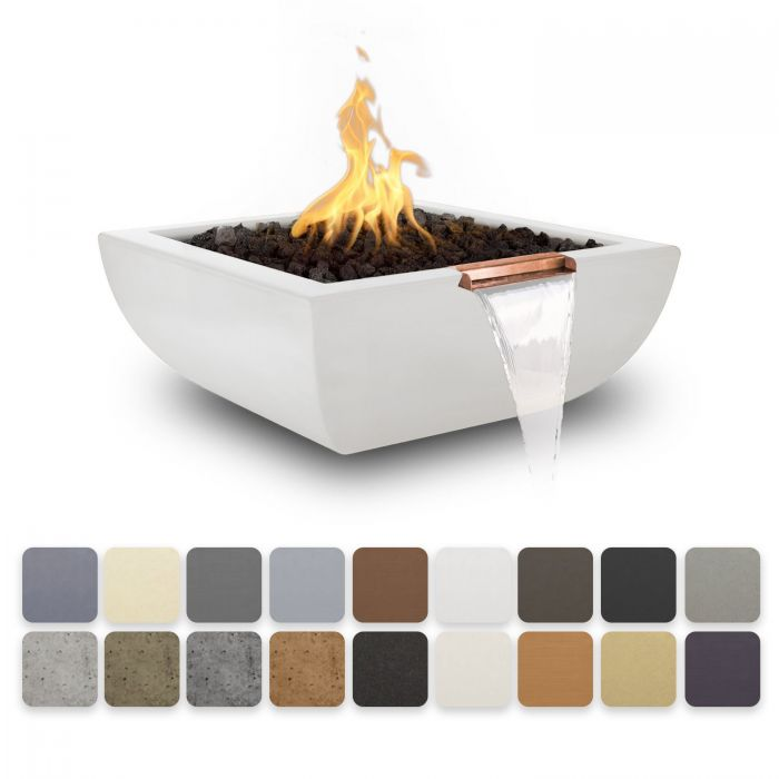 TOP Fires by The Outdoor Plus OPT-AVLFWxx Avalon Concrete Fire and Water Bowl