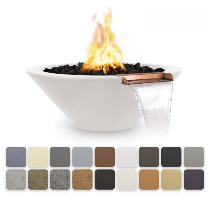 TOP Fires by The Outdoor Plus OPT-CazoFW Cazo Concrete Fire and Water Bowl