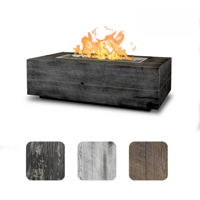 TOP Fires by The Outdoor Plus OPT-COR120x Coronado Wood Grain Fire Pit