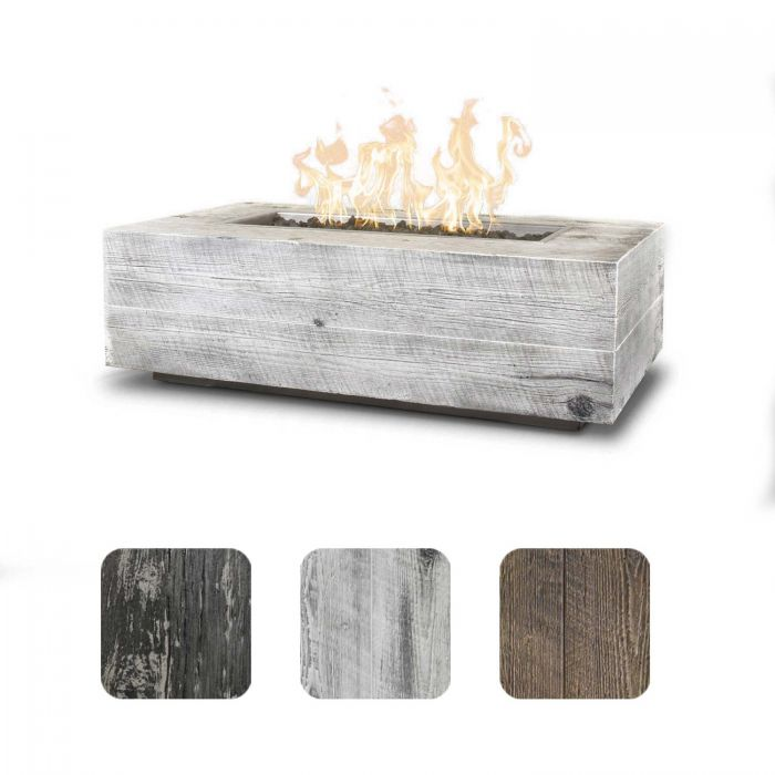 TOP Fires by The Outdoor Plus OPT-COR60x Coronado Wood Grain Fire Pit