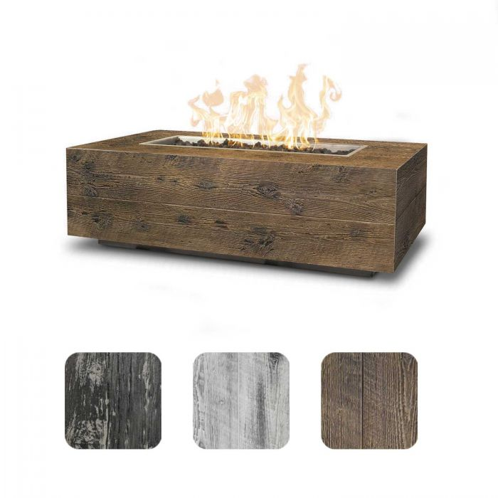 TOP Fires by The Outdoor Plus OPT-COR72x Coronado Wood Grain Fire Pit