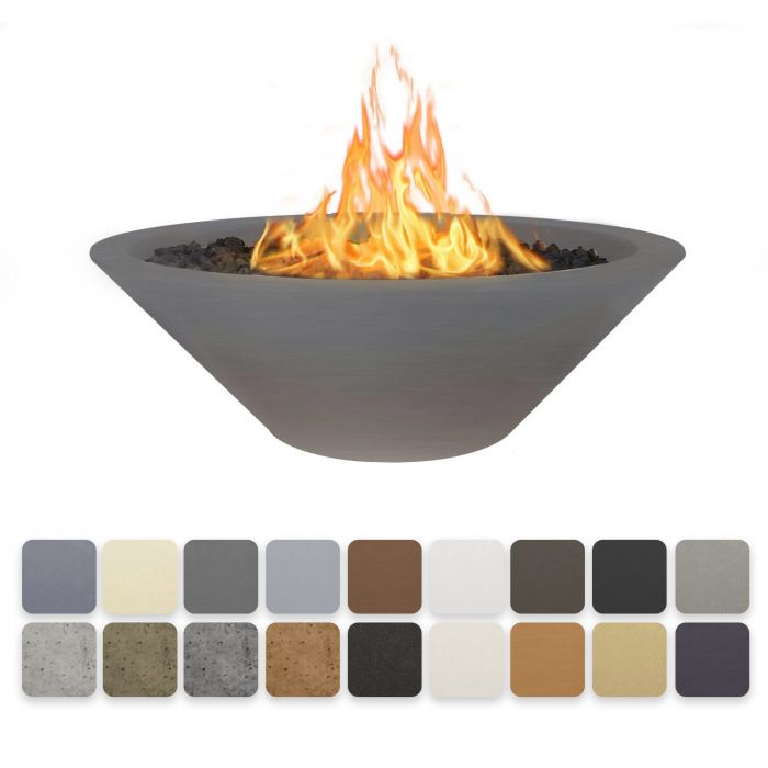 TOP Fires by The Outdoor Plus OPT-CZNLxx Cazo Concrete Fire Pit - No Ledge