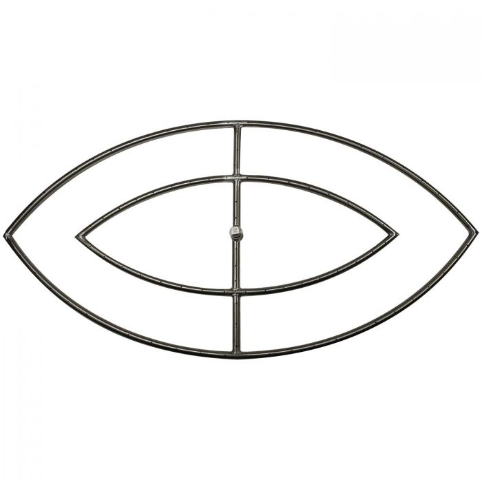 The Outdoor Plus OPT-FExxD Stainless Steel Double Fish Eye Gas Fire Pit Burner