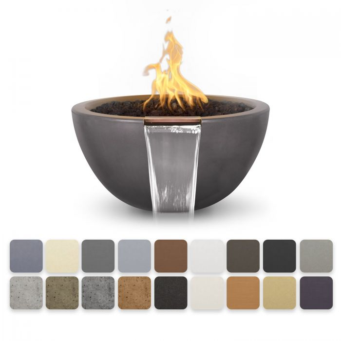 TOP Fires by The Outdoor Plus OPT-LUNFWxx Luna Concrete Fire and Water Bowl