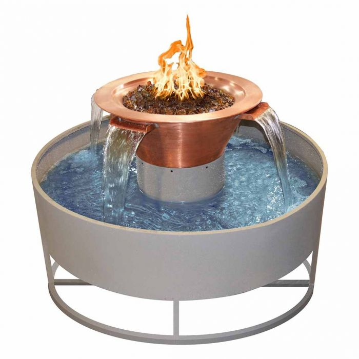 TOP Fires by The Outdoor Plus OPT-OLR60x Olympian Round 4-Way Fire and Water Bowl