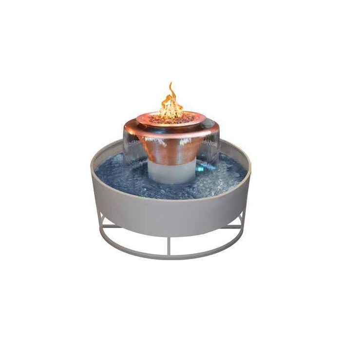 TOP Fires by The Outdoor Plus OPT-OLY60x Olympian Round 360 Fire and Water Bowl