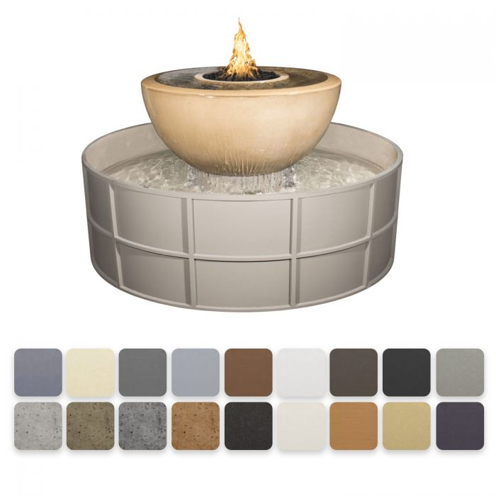 TOP Fires by The Outdoor Plus OPT-OLYSED60x Sedona 360 Fire and Water Bowl