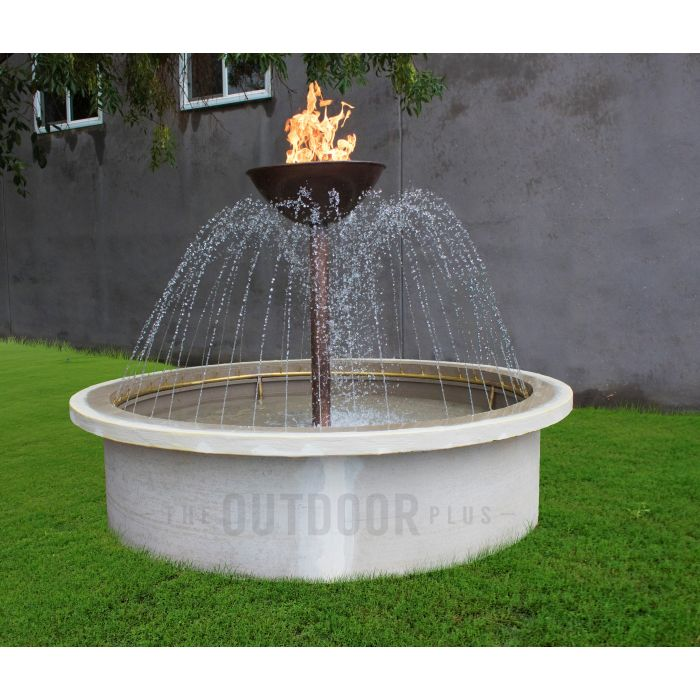 TOP Fires by The Outdoor Plus OPT-OSR60E Osiris Fire and Water Fountain