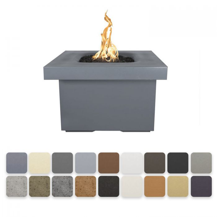 TOP Fires by The Outdoor Plus OPT-RMNSQ36x Ramona Square Concrete Fire Pit