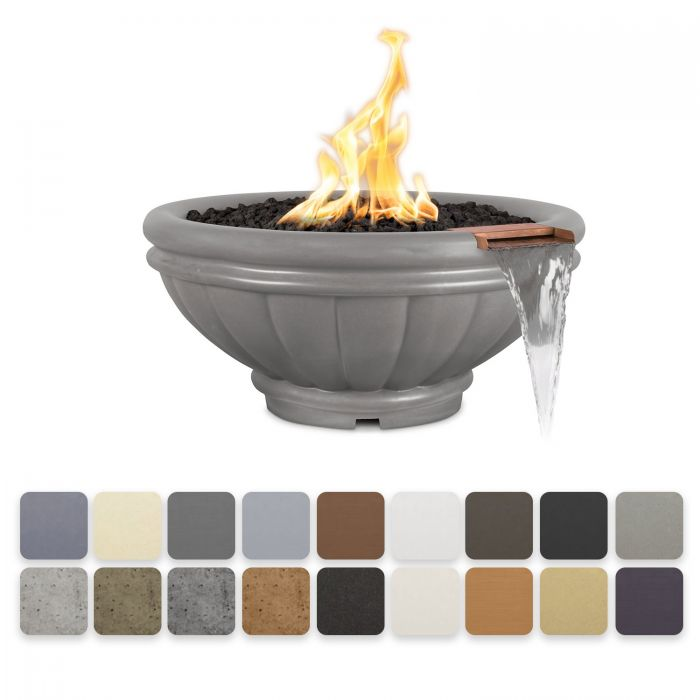 TOP Fires by The Outdoor Plus OPT-ROMFWxx Roma Concrete Fire and Water Bowl