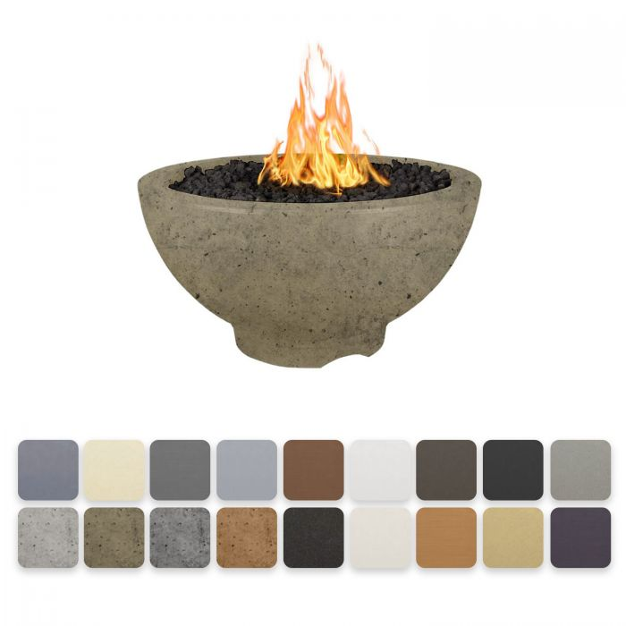 TOP Fires by The Outdoor Plus OPT-SONMA3x Sonoma Concrete Fire Pit