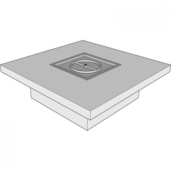 The Outdoor Plus OPT-ST72 Ready-to-Finish Square Fire Pit Table Kit, 72x72-Inch