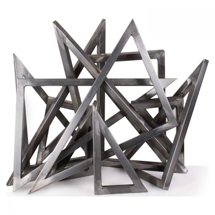 The Outdoor Plus OPT-STTRIxx Stainless Steel Triangle Sculpture