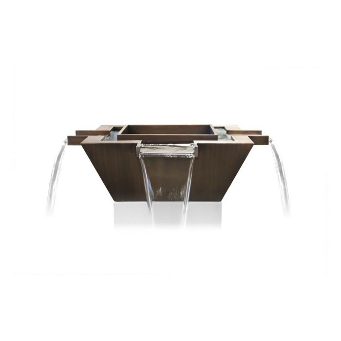 TOP Fires by The Outdoor Plus OPT-XXFW4W Maya 4-Way Copper Fire and Water Bowl