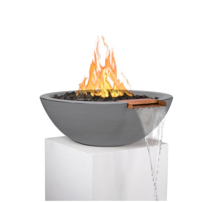 TOP Fires by The Outdoor Plus OPT-xxRFW Sedona Concrete Gas Fire and Water Bowl