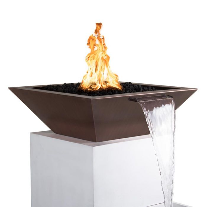 TOP Fires by The Outdoor Plus OPT-xxSCFW Maya Copper Fire and Water Bowl