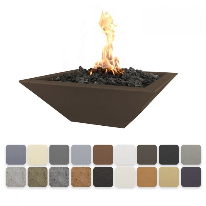 TOP Fires by The Outdoor Plus OPT-xxSFO Maya Concrete Fire Bowl