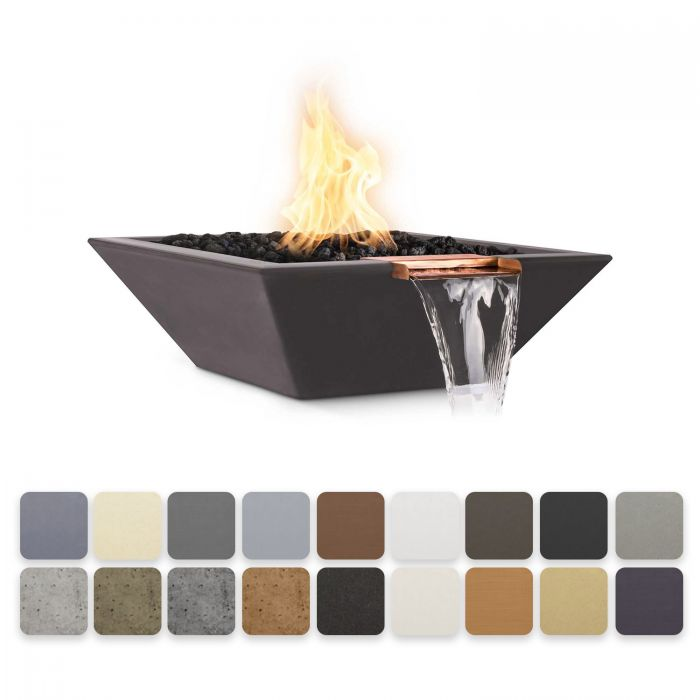 TOP Fires by The Outdoor Plus OPT-xxSFW Maya Concrete Fire and Water Bowl