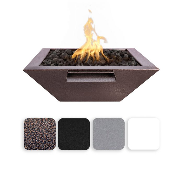 TOP Fires by The Outdoor Plus OPT-xxSQPCFW Maya Powder Coat Fire and Water Bowl