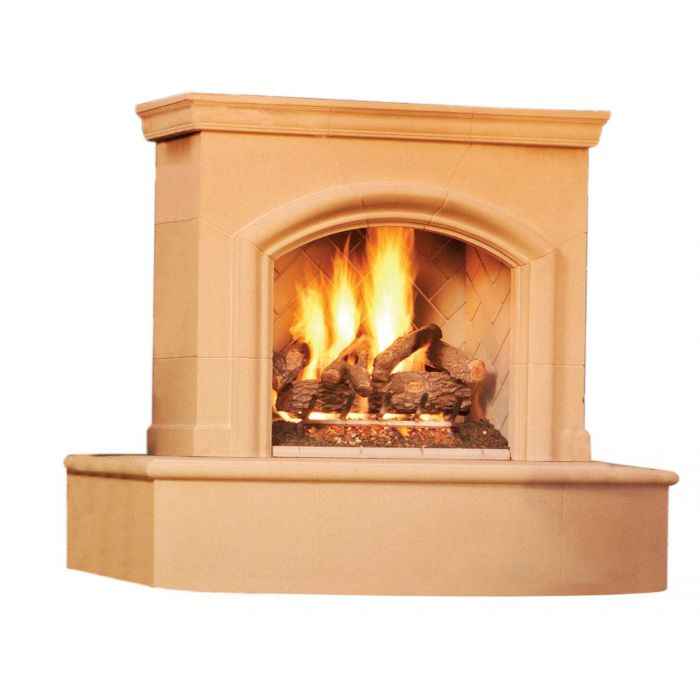 American Fyre Designs Phoenix Outdoor Gas Fireplace with Back Venting
