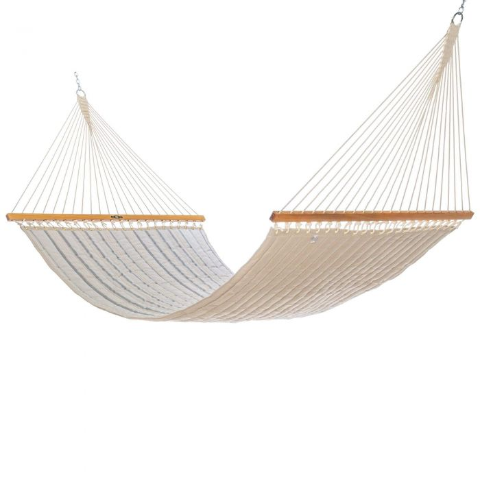 Pawleys Island QRD02 Large Quilted Fabric Hammock, Cove Pebble