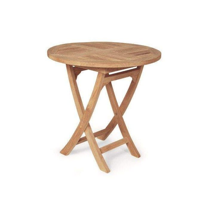 Royal Teak Collection SFR Round Sailor Teak Folding Table