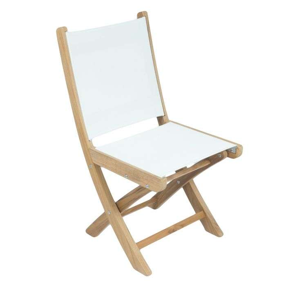 Royal Teak Collection SM Sailmate Teak Sling Folding Arm Chair
