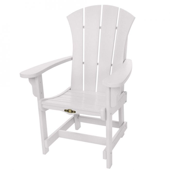 Pawleys Island SRDCA1WH Sunrise Dining Chair with Arms, White