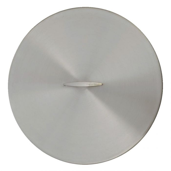 The Outdoor Plus OPT-23RC Brushed Stainless Steel Round Fire Pit Cover, 23-Inch