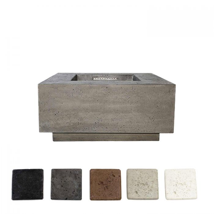 Prism Hardscapes PH-406 Tavola 2 Concrete Gas Fire Pit, 36x36-Inch