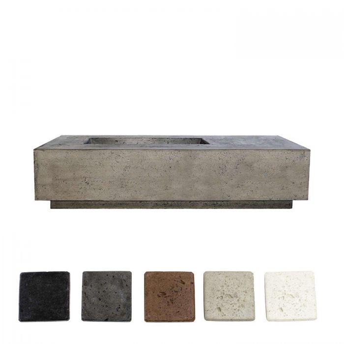 Prism Hardscapes PH-409 Tavola 5 Concrete Gas Fire Pit, 80x38-Inch