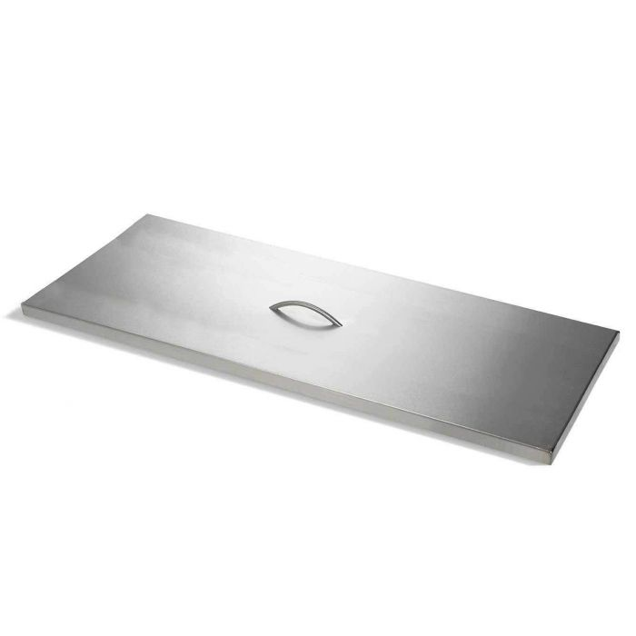 Hearth Products Controls Rectangle Stainless Steel Fire Pit Cover, 46x18 Inch
