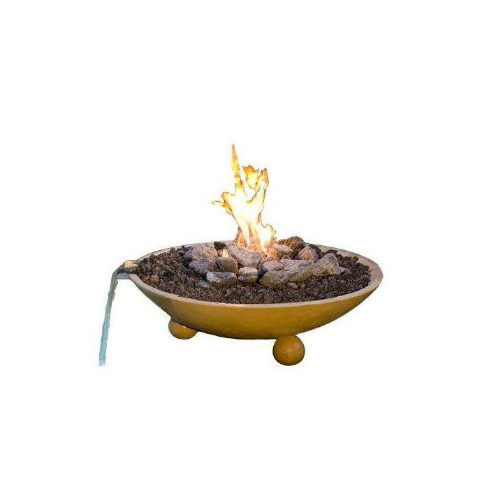 American Fyre Designs Versailles Fire Bowl with Water Spout, 32-Inch