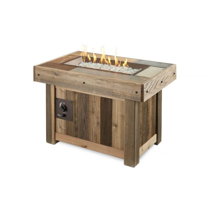 The Outdoor GreatRoom Company VNG-1224BRN Vintage Gas Fire Pit Table, 37.25x25.5-Inches
