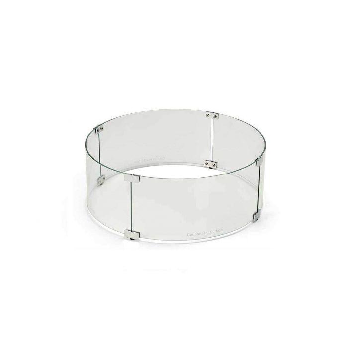 Hearth Products Controls WG38-RD Fire Pit Glass Wind Guard, Round, 38-Inch
