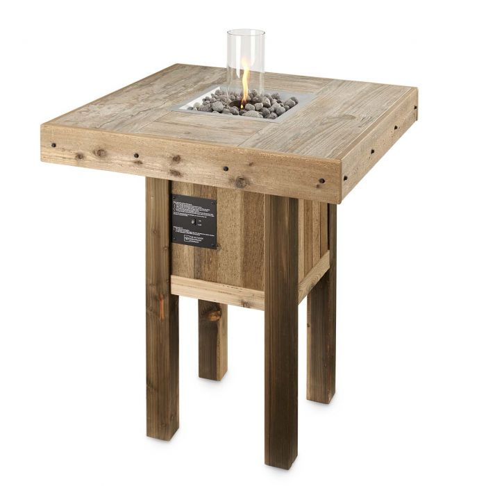 The Outdoor GreatRoom Company WP-INT Westport Fire Pit Table with Intrigue Fire Feature, 38.75x38.75-Inches