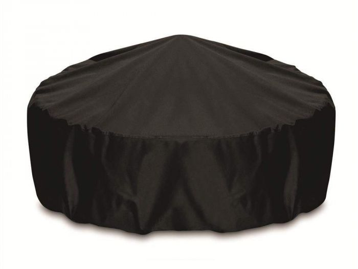 Two Dogs Designs Round 48 Inch Black Fire Pit Cover