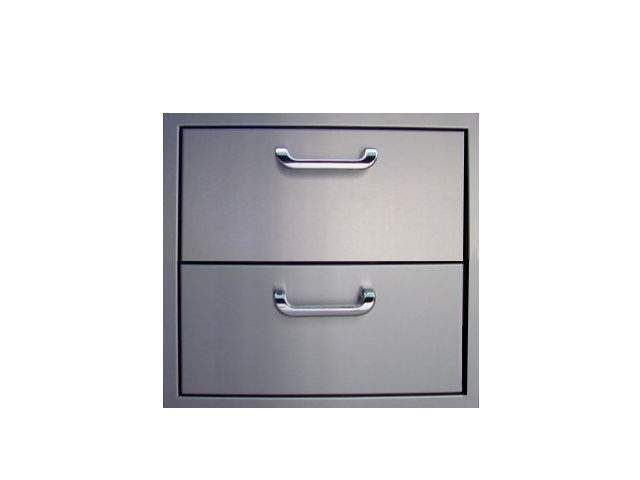 The Outdoor GreatRoom Company 2DRW Double Drawer Storage, 18.25x12.75-Inch