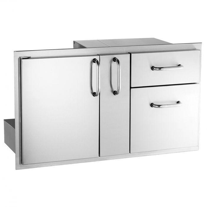 Fire Magic Select Access Door with Platter Storage & Double Drawers
