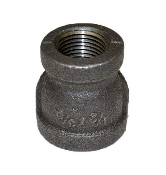 HPC Black Iron Reducing Coupler, 1/2-Inch to 3/8-Inch FPT