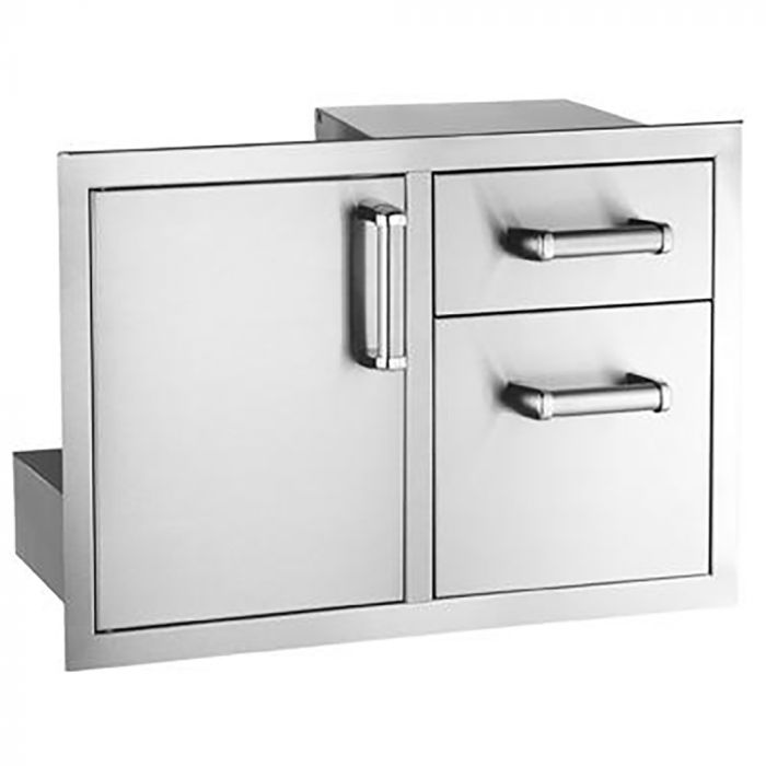 Fire Magic Premium Access Door with Double Drawers, Flush Mounted