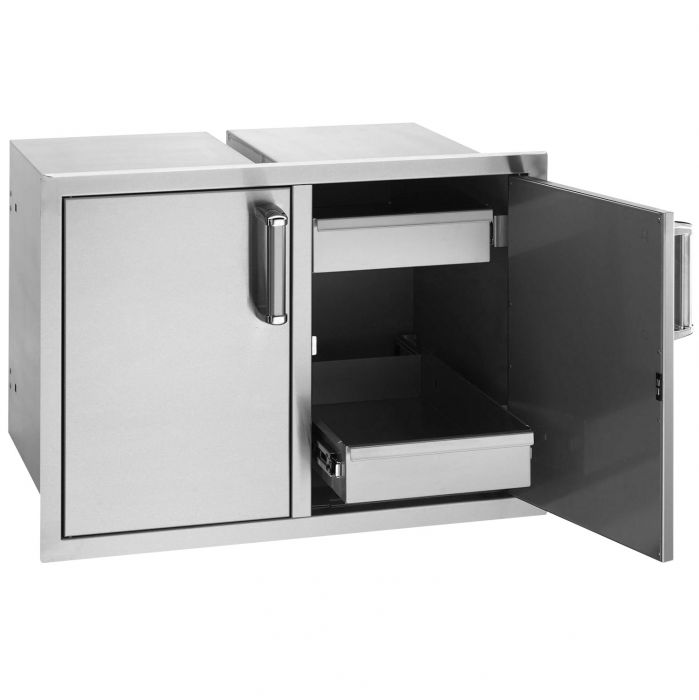 Fire Magic Premium Double Doors with Two Dual Drawers, Flush Mounted
